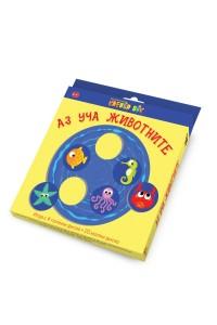 Аз уча животните - Игра с 4 големи диска + 20 малки диска