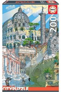Четириизмерен пъзел Educa от 200 части - Рим