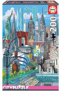 Пъзел Educa от 200 части - Ню Йорк