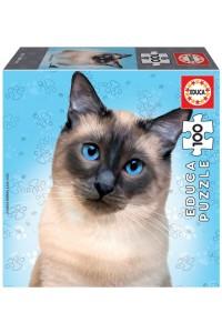 Пъзел Educa от 100 части - Сиамска котка