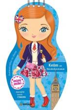 Пътешествия по света: Кейт от Великобритания. Нарисувай, залепи + стикери