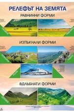 Табло по география и икономика за 5. клас Релефът на Земята