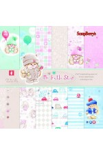 Дизайнерски картон 15,2х15,2см 24л - My Little Star SCB220607309G